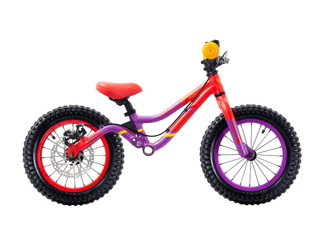 "s'cool pedeX Dirt - Draisienne Enfant - 14"" rouge/violet"